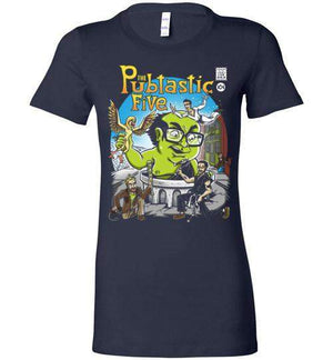 The Pubtastic Five-Pop Culture Women's Shirts-Punksthetic Designs|Threadiverse