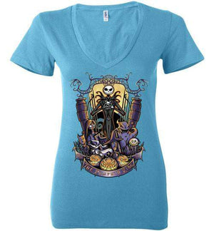 The Pumpkin King-Animation Women's V-Necks-TrulyEpic|Threadiverse
