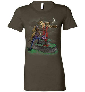 The Sword And Michonne-Pop Culture Women's Shirts-Punksthetic Designs|Threadiverse