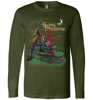 The Sword And Michonne-Pop Culture Long Sleeves-Punksthetic Designs|Threadiverse