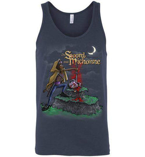 The Sword And Michonne-Pop Culture Tank Tops-Punksthetic Designs|Threadiverse