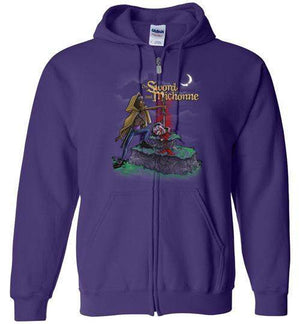 The Sword And Michonne-Pop Culture Zipper Hoodies-Punksthetic Designs|Threadiverse