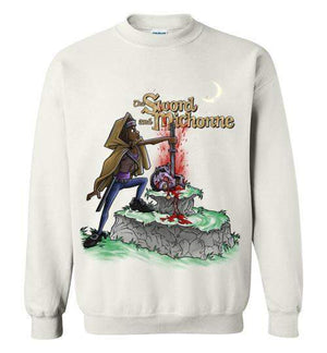 The Sword And Michonne-Pop Culture Sweatshirts-Punksthetic Designs|Threadiverse