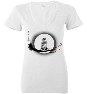 The Wolf Girl-Animation Women's V-Necks-DDjvigo|Threadiverse
