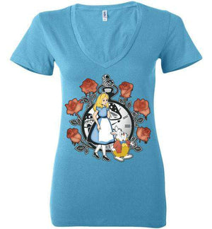Time For Wonderland-Animation Women's V-Necks-Kempo24|Threadiverse