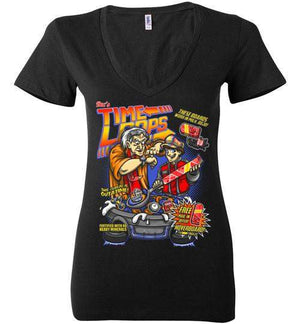 Time Loops-Pop Culture Women's V-Necks-Punksthetic Designs|Threadiverse