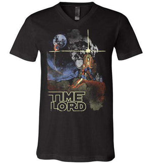 Time Lord-Pop Culture V-Necks-Creative Outpouring|Threadiverse