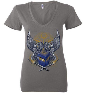 TimeLord-Pop Culture Women's V-Necks-TrulyEpic|Threadiverse