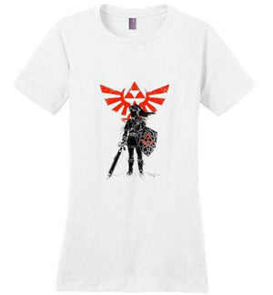 Traditional Hero Of Time-Gaming Women's Perfect Weight Shirts-Donnie Illustrateur|Threadiverse