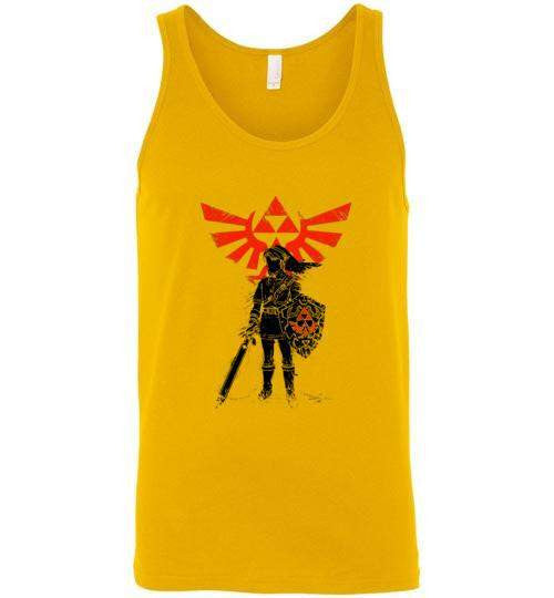 Traditional Hero Of Time-Gaming Tank Tops-Donnie Illustrateur|Threadiverse