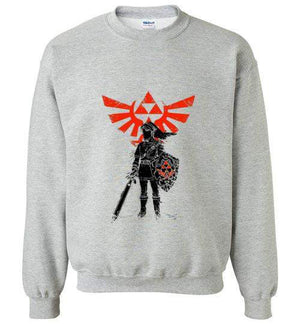 Traditional Hero Of Time-Gaming Sweatshirts-Donnie Illustrateur|Threadiverse