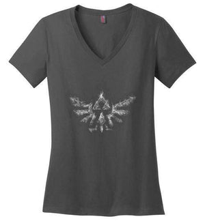 Triforce Smoke-Gaming Women's Perfect Weight V-Necks-Donnie Illustrateur|Threadiverse