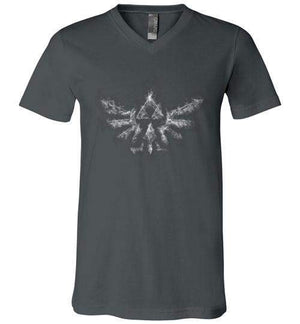 Triforce Smoke-Gaming V-Necks-Donnie Illustrateur|Threadiverse