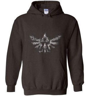 Triforce Smoke-Gaming Hoodies-Donnie Illustrateur|Threadiverse