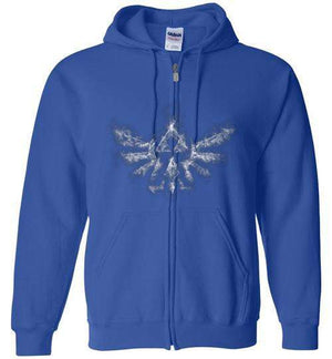 Triforce Smoke-Gaming Zipper Hoodies-Donnie Illustrateur|Threadiverse