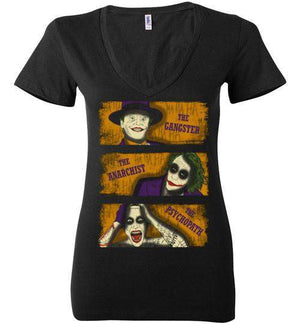 Types Of Clowns-Comics Women's V-Necks-Ddjvigo|Threadiverse
