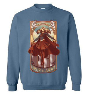 Up Up And Away-Comics Sweatshirts-Creative Outpouring|Threadiverse