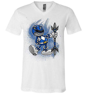 Vintage Black Ranger-Pop Culture V-Necks-Punksthetic Designs|Threadiverse
