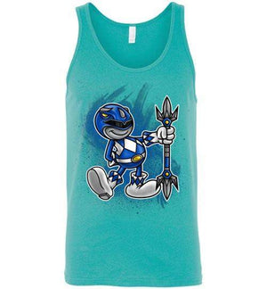 Vintage Blue Ranger-Pop Culture Tank Tops-Punksthetic Designs|Threadiverse