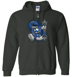 Vintage Blue Ranger-Pop Culture Zipper Hoodies-Punksthetic Designs|Threadiverse