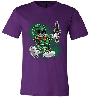 Vintage Green Ranger-Pop Culture V-Necks-Punksthetic Designs|Threadiverse