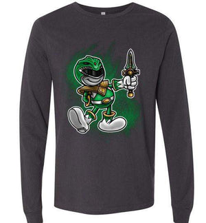 Vintage Green Ranger-Pop Culture Long Sleeves-Punksthetic Designs|Threadiverse