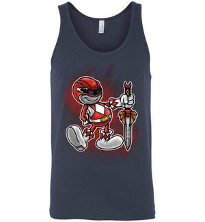 Vintage Red Ranger-Pop Culture Tank Tops-Punksthetic Designs|Threadiverse