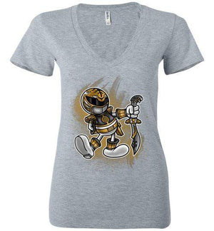 Vintage White Ranger-Pop Culture Women's V-Necks-Punksthetic Designs|Threadiverse