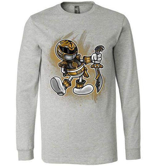 Vintage White Ranger-Pop Culture Long Sleeves-Punksthetic Designs|Threadiverse