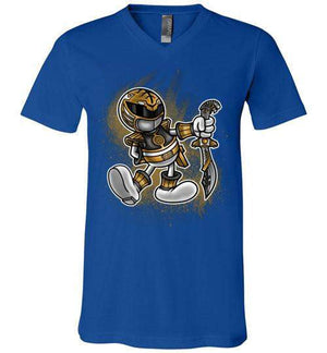 Vintage White Ranger-Pop Culture V-Necks-Punksthetic Designs|Threadiverse