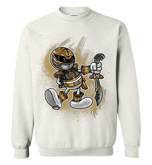 Vintage White Ranger-Pop Culture Sweatshirts-Punksthetic Designs|Threadiverse