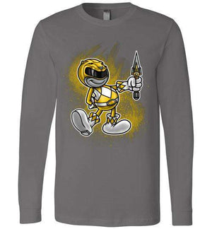 Vintage Yellow Ranager-Pop Culture Long Sleeves-Punksthetic Designs|Threadiverse