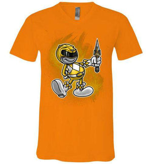 Vintage Yellow Ranager-Pop Culture V-Necks-Punksthetic Designs|Threadiverse