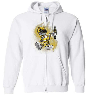 Vintage Yellow Ranager-Pop Culture Zipper Hoodies-Punksthetic Designs|Threadiverse