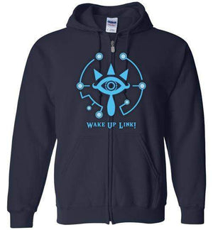 Wake Up Link-Gaming Zipper Hoodies-kempo24|Threadiverse
