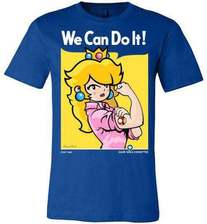 We Can Do It(Peach)-Gaming Shirts-Demonigote|Threadiverse