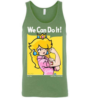We Can Do It(Peach)-Gaming Tank Tops-Demonigote|Threadiverse