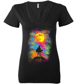Wild World-Gaming Women's V-Necks-Daletheskater|Threadiverse