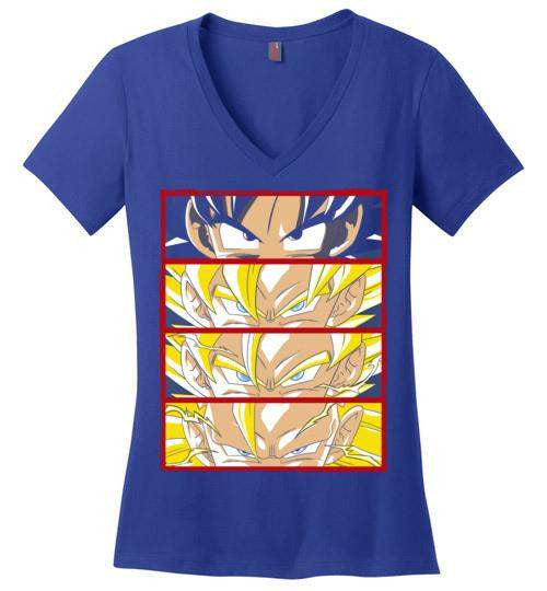 Z Levels-Anime Women's Perfect Weight V-Necks-Ddjvigo|Threadiverse