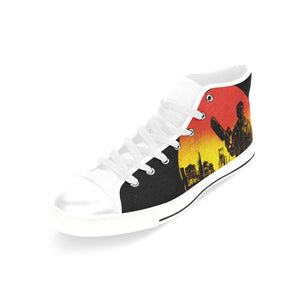 bad education Men's Classic High Top Canvas Shoes /Large Size (Model 017)