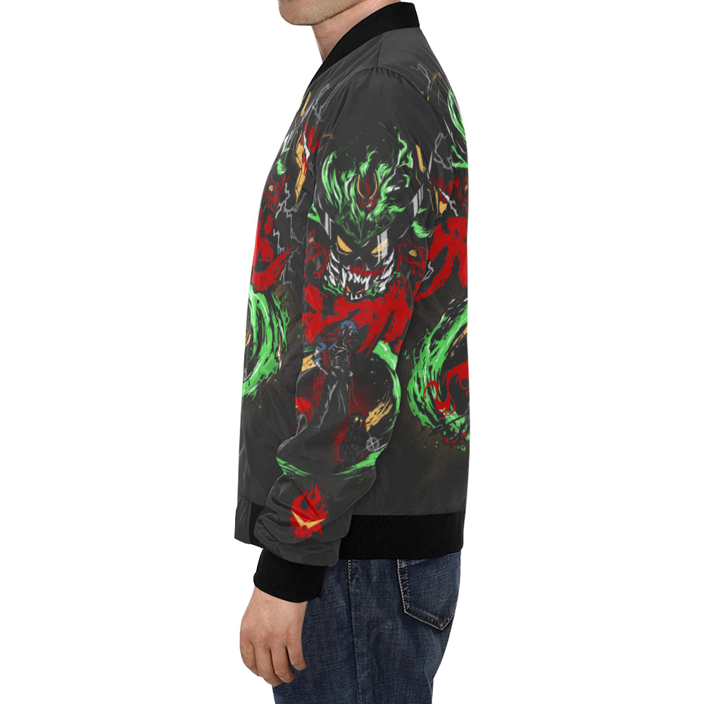 Gurren Graffiti All Over All Over Print Bomber Jacket for Men/Large Size (Model H19)