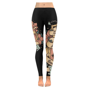 Follow Your Heart Low Rise Leggings (Invisible Stitch) (Model L05)