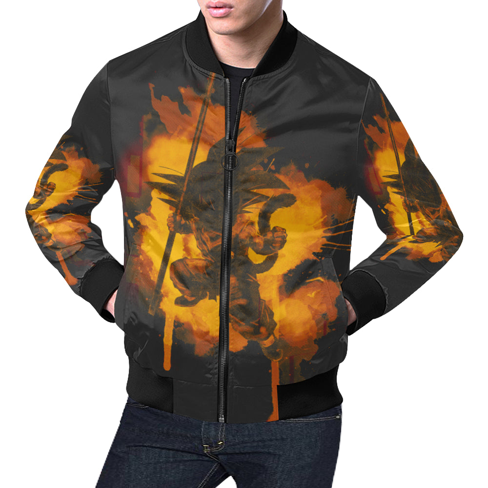 Inked Dragon All Over All Over Print Bomber Jacket for Men (Model H19)
