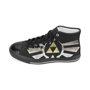 importedfromhyrule Women's Classic High Top Canvas Shoes (Model 017)-Women's High Top Canvas Shoes (017)-e-joyer|Threadiverse