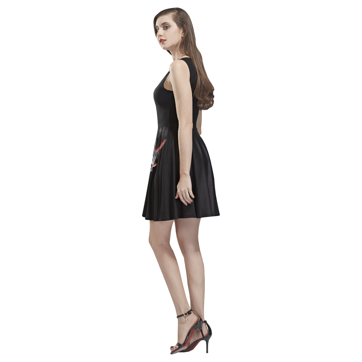 Epic Mononoke Dress Thea Sleeveless Skater Dress(Model D19)-Thea Sleeveless Skater Dress (D19)-e-joyer|Threadiverse
