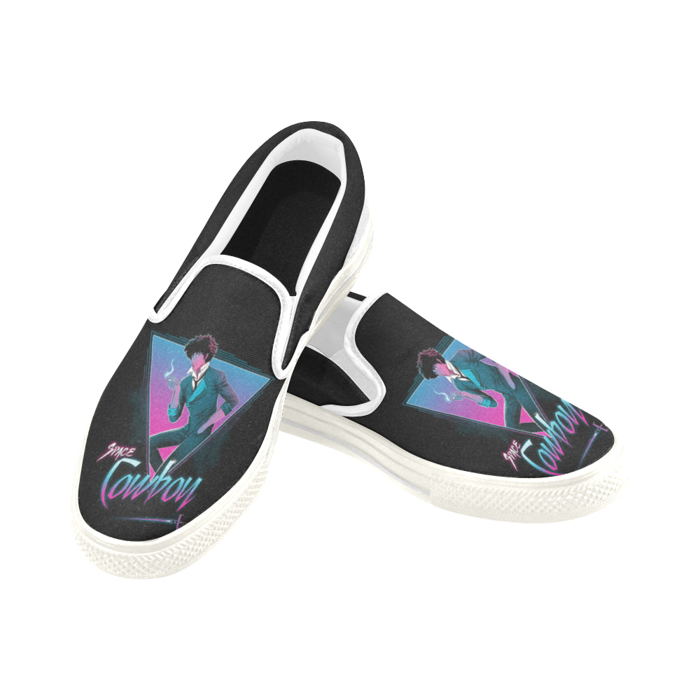 space cowboy Women's Unusual Slip-on Canvas Shoes (Model 019)