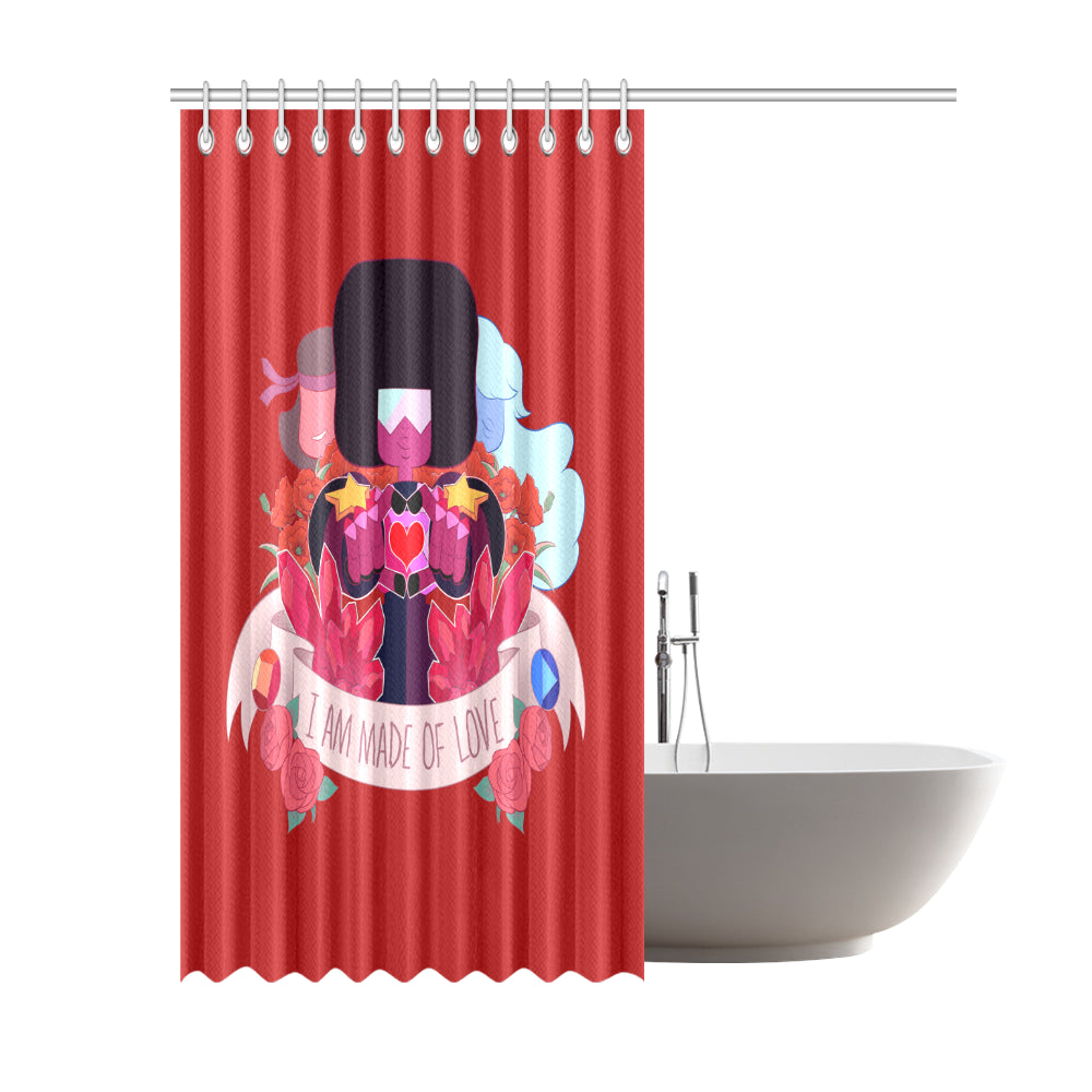 "Made Of Love Shower Curtain Shower Curtain 69""x84""-Shower Curtain 69""x84""-e-joyer