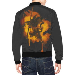 Inked Dragon Jacket (Front and Back Only) All Over Print Bomber Jacket for Men (Model H19)