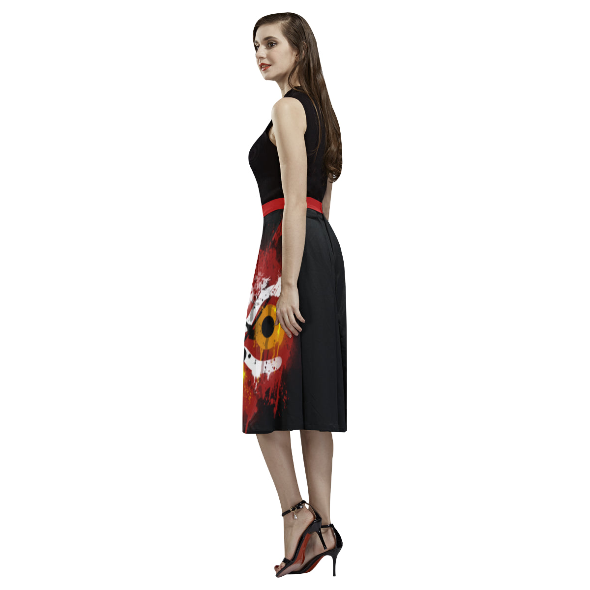 Mononoke Graffiti Skirt Aoede Crepe Skirt (Model D16)