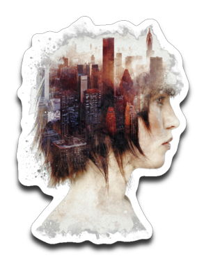 Lady In The City-Decals-Barrett Biggers|Threadiverse
